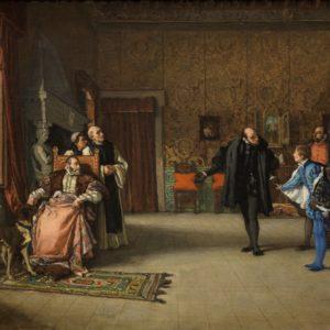 1869 - Presentación de don Juan de Austria al emperador Carlos V, en Yuste - Eduardo Rosales Gallinas
